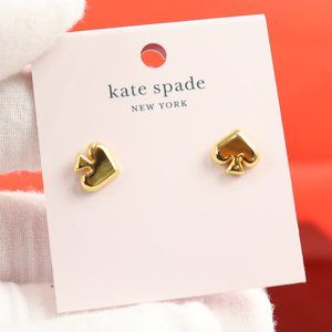Gold Plated EVERYDAY SPADE GOLD Spade Stud Earring